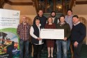 Members of the Montrose Farmers' Ball committee handing over a cheque to RSABI