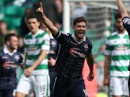 Ross County's Stewart Murdoch celebrates netting the equaliser