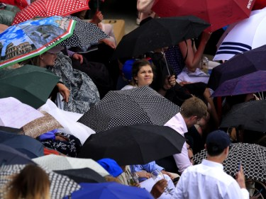 No play was possible at the French Open on Monday because of rain