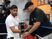 Virgil Hunter, right, who trains Amir Khan, is considered one of the world's finest trainers