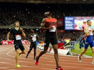 Usain Bolt won the 200m in emphatic fashion