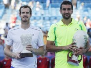 Marin Cilic, right, was the man to finally stop Andy Murray's winning run (AP)