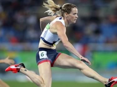 Great Britain's Eilidh Doyle leads the Diamond Race