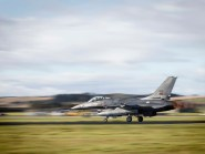 As part of Joint Warrior Portuguese F16's made RAF Lossiemouth their home.