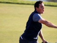 Rory McIlroy celebrated passionately after a vital Ryder Cup win at Hazeltine