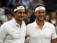 After playing Roger Federer at Wimbledon, Marcus Willis, left, will face Andy Murray in Tie Break Tens
