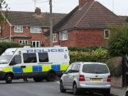 Police at the scene in Hamstead, Birmingham