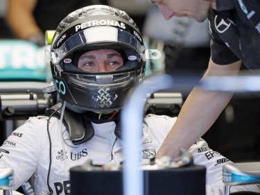 Nico Rosberg topped the timesheets in second practice (AP)