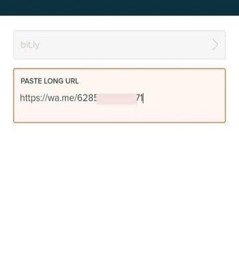 cara membuat link whatsapp di Bit.ly
