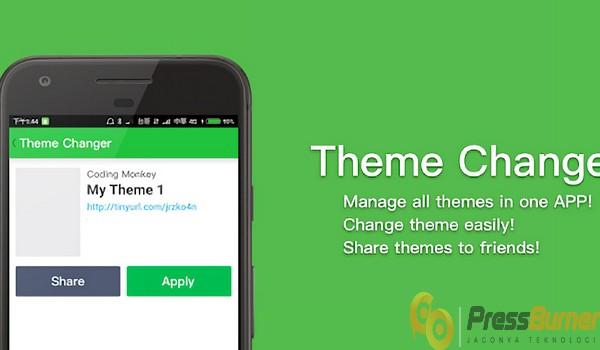 instal aplikasi theme changer