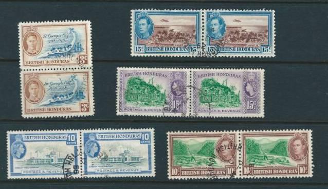 British Honduras Stamps 1938-1953