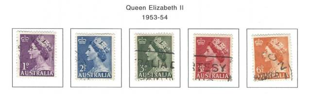 Austrailia Queen Elizabeth II 1953-1954 Stamps