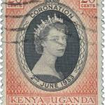 Queen Elizabeth Kenya Uganda Tanganyika 1953 Coronation Issue