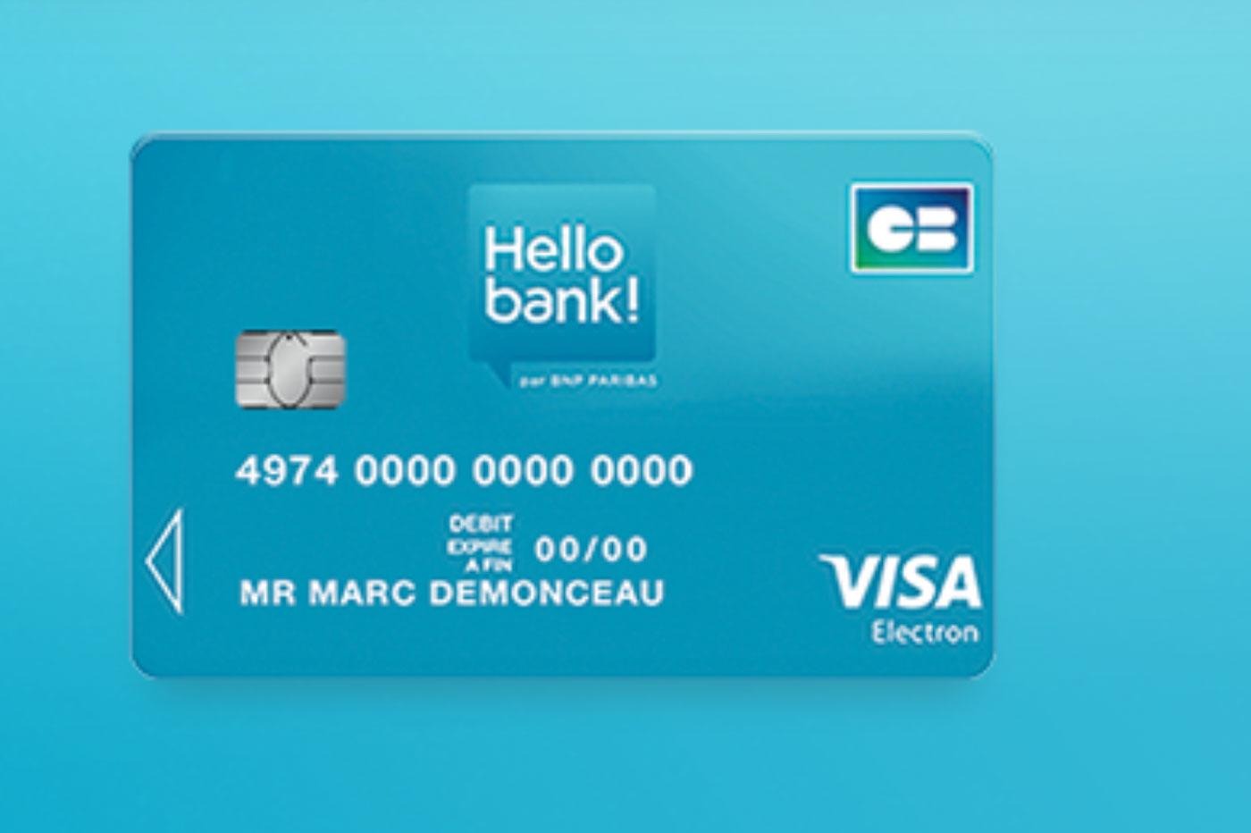 carte visa electron hello bank prix