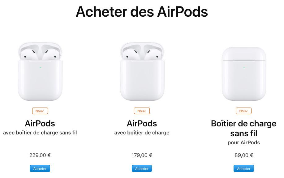 Apple dévoile les AirPods 2, quelle différence avec le