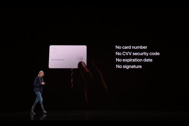 Apple Card : aucun numéro