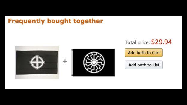 Amazon drapeau néo-nazi