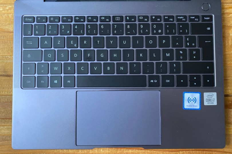 test huawei matebook x pro clavier