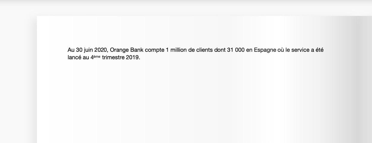 Orange Bank nombre clients juin 2020