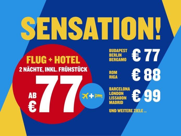 Insgesamt sind bei Ryanair Holidays (http://holidays.ryanair.com) Tausende von Städtereisen zu mehr als 20 Zielen in Europa für unter 100 Euro buchbar.