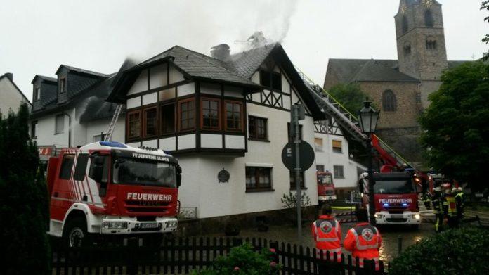 Brand, Ulmen,Polizei