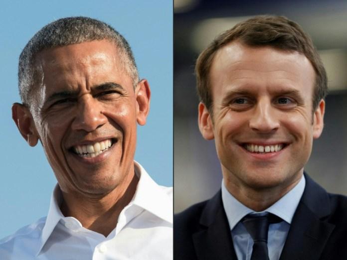 Barack Obama, Emmanuel Macron, News, Paris
