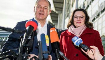 Olaf Scholz , Andrea Nahles,Berlin,Spd,Politik,GroKo,News