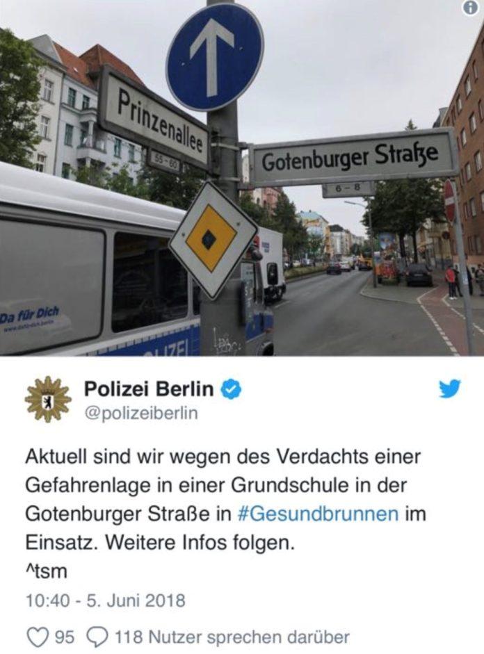 Berlin Gesundbrunnen, Schule, SEK,Berliner Polizei,Twitter,Nachrichten