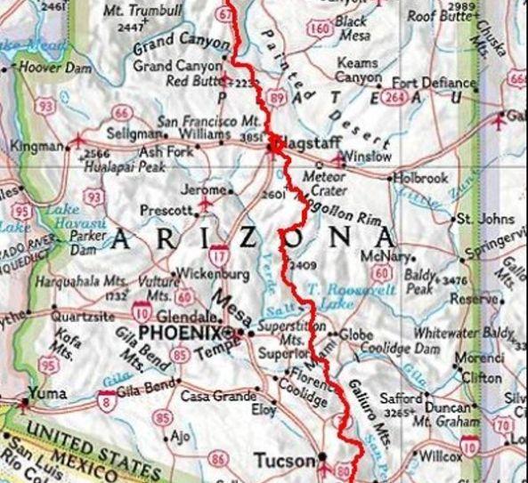 Der Arizona Scenic Trail- 800 Meilen durch den Bundesstaat ...