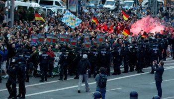 Demonstranten in Chemnitz,Chemnitz, Nachrichten,Demonstrationen ,Polizei ,