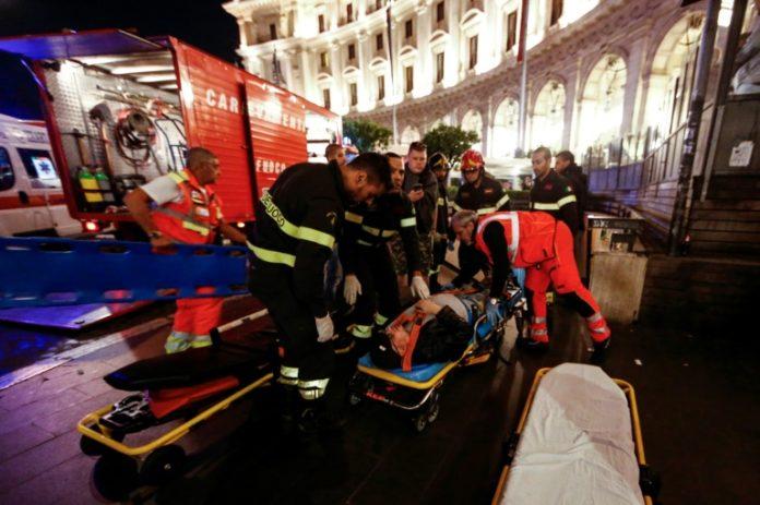 Rolltreppen-Unglück in Rom,#Rom,#Fußball,#News,#Presse,#Nachrichten,Fußballfans,Champions-League-Spiel,Sport