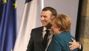Bundeskanzlerin Angela Merkel ,Politik,Emmanuel Macron