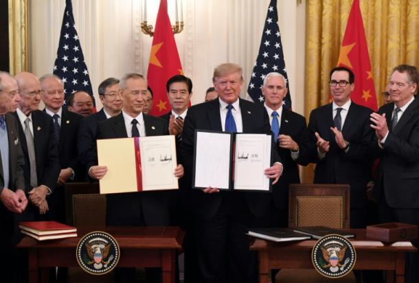 USA und China unterzeichnen erstes Teilabkommen im Handelsstreit