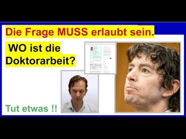 Dr. Bodo Schiffmann- Wo ist nur die Doktorarbeit von Professor Drosten