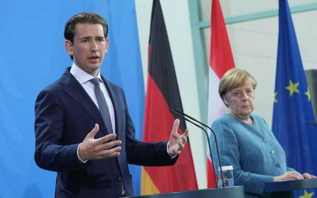 Kurz bei Merkel,Berlin,Wien,Politik,Presse,News