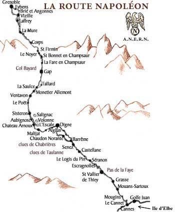 """Résultat de recherche d'images pour """"Route Napoléon Carte Géographiques"""""""