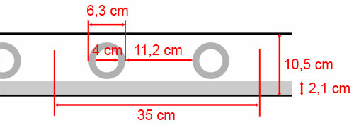 bande a oeillets 40mm nickel mat plusieurs couleurs de tissu par 35 cm