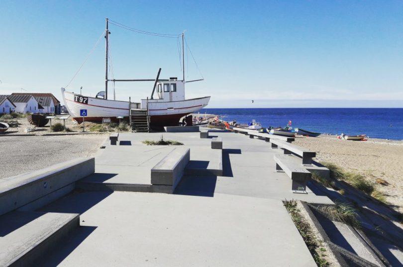 Klitmøller Dänemark Strand mit Fischkutter
