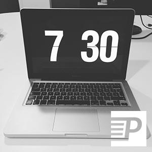 Screensaver Macbook Pro analog watch clock flip