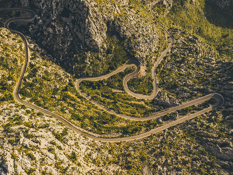 Straßen in den Bergen Mallorcas