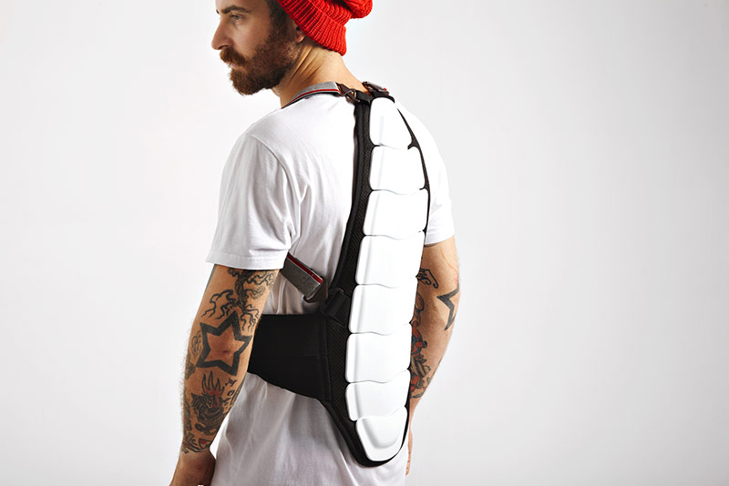 Rückenprotector Snowboarding
