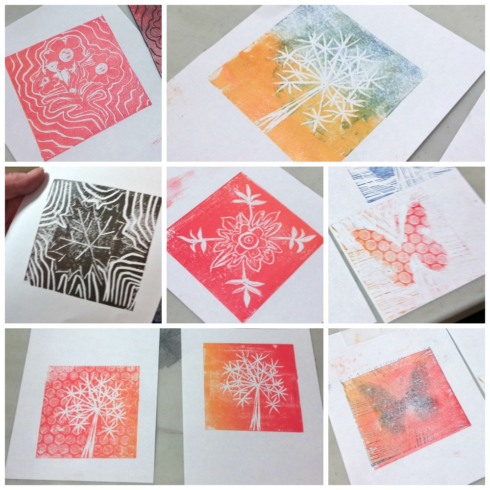 Lino printing with Colour Your Life
