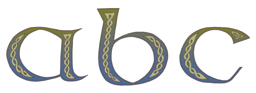 Celtic Knotwork Alphabet