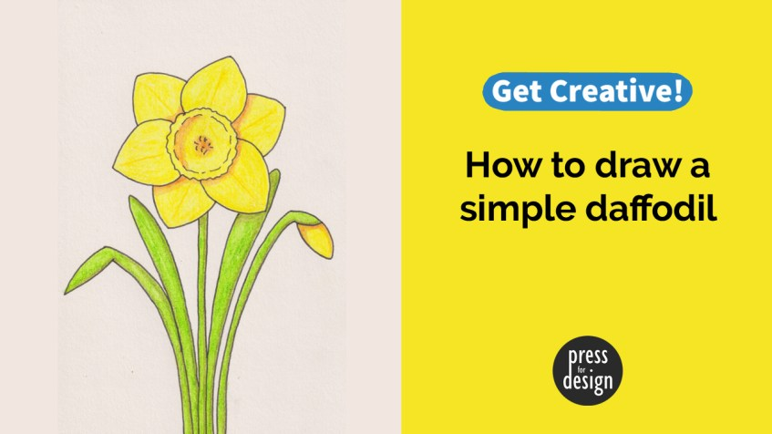 Get Creative: How to draw a daffodil