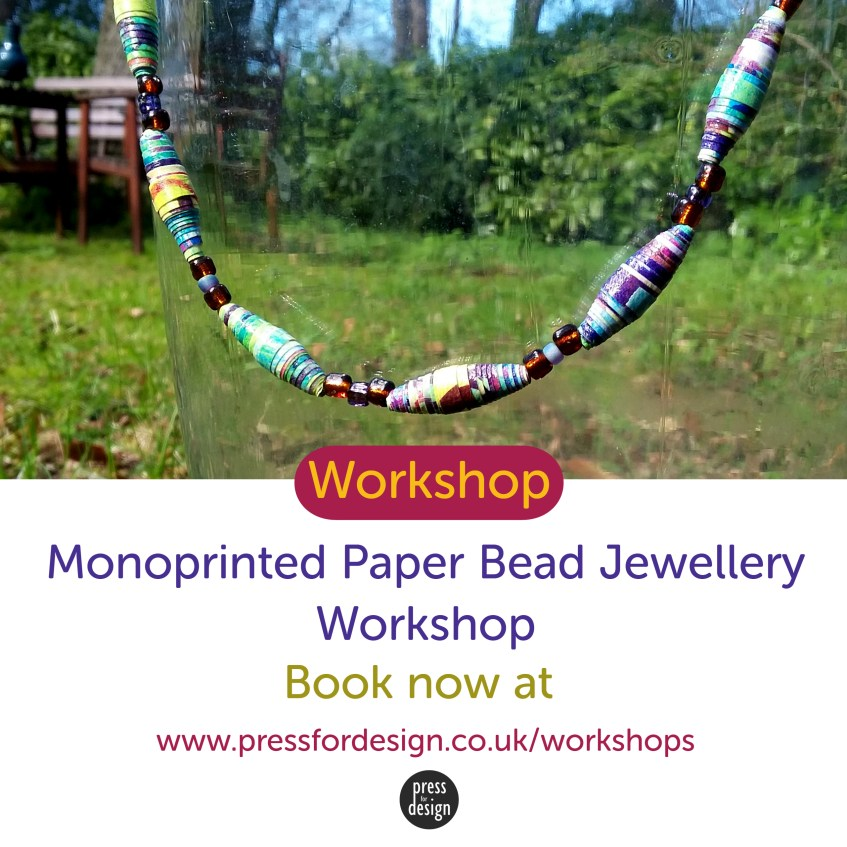 Monoprinted Paper Bead Jewellery Workshop