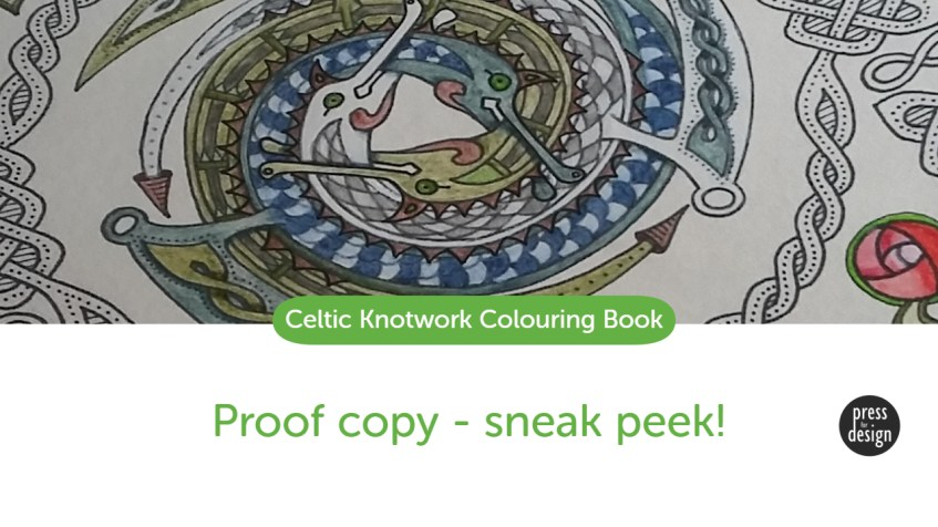A sneak peek at my Celtic Knotwork Colouring Book!