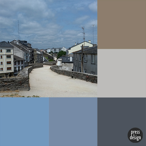 Roman Walls of Lugo colour inspiration swatch