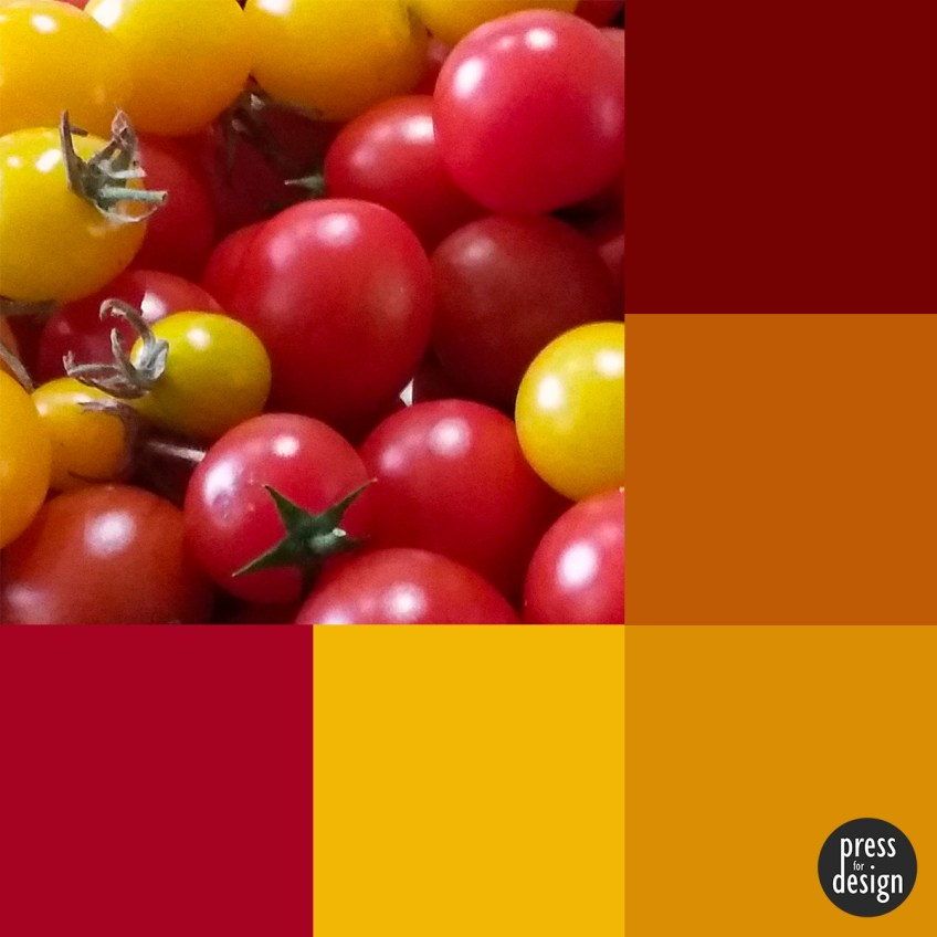 Tuesday Colour Inspiration: Home grown tomatoes