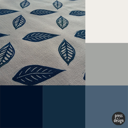 printed fabric - colour inspiration swatch