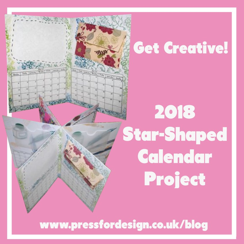 Get Creative: Star shaped desk calendar project – with mini envelope printables and 2019 calendar printable!